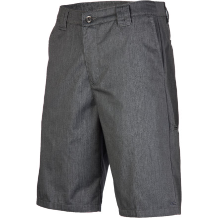 Surf The easy-care poly-cotton O'Neill Men's Contact Short feels straight-up classic with its worker twill design but looks fresh and sexy after a tough surf session. Get out of that soggy boardshort and chill in a comfy, breathable chino with stylish contrast interior and embroidered logo. Kick back and be civilized, man. - $39.45
