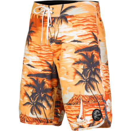 The O'Neill Paradise Board Shorts gives you a smooth feel and a great look so you can hit the beach in style. Hop into these tropical boardies and forget about everything except the sun on skin and the board under your feet. - $49.45