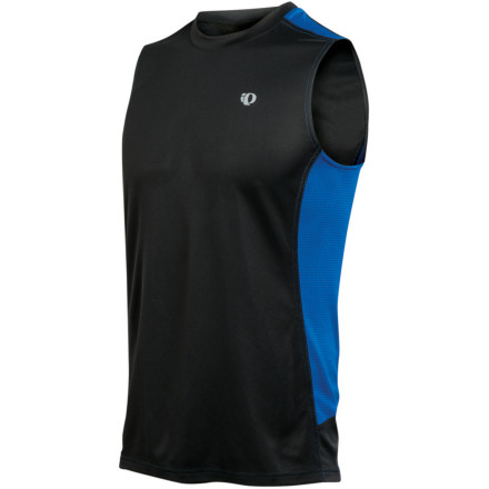 Fitness It's too hot for sleeves, so pull on the Pearl Izumi Men's Phase Sleeveless Shirt before you head out for your run or to the gym. Wicking fabric, mesh panels, and an airy design make it just right for summer workouts.Select Transfer fabric wicks moisture during long runs Strategically placed DirectVent mesh panels provide excellent ventilation UPF 50-rated fabric blocks burning UV rays  Relaxed fit is laid-back and comfortable Reflective details enhance your visibility in low light - $29.95