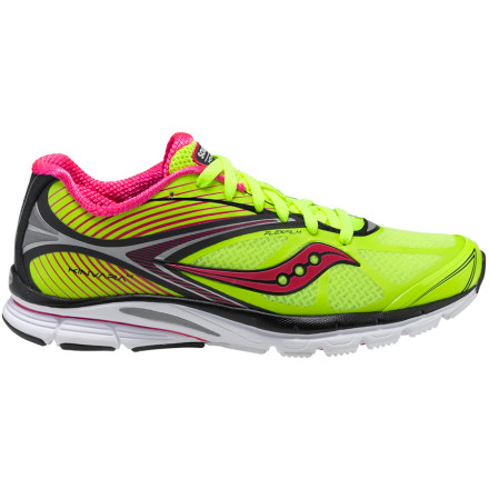 Fitness Feel the power of nature in the Saucony Women's PowerGrid Kinvara 4 Running Shoe, with its low-profile, minimal feel for maximum efficiency. A FlexFilm upper overlay gives it a seamless, ultra-light feel, while a high-abrasion EVA midsole and carbon rubber outsole give enduring support and grip without the weight. The updated PowerGrid adds oomph to your stride at the same time absorbing impact for a cushy ride. And memory-foam heel pods hug your foot in a snug fit. All that performance and comfort plus a four-millimeter drop for sensitivity deliver a wallop to your run. - $99.95