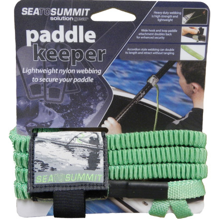 Kayak and Canoe Losing a paddle far from shore can result in a dire situation. Avoid that scenario with the Sea To Summit Solution Paddle Keeper. The burly accordion-style nylon webbing expands and retracts without tangling and is compatible with standard shaft sizes. - $24.95
