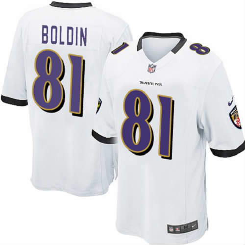 Sports Anquan Boldin White Youth Nike Game Baltimore Ravens #81 NFL Jersey