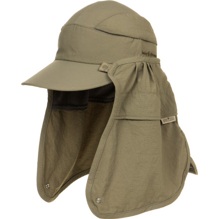 Camp and Hike Whether you're fishing, hiking, or walking the dog, turn to the Sunday Afternoons Convertible Cap for maximum sun protection. The integrated sweatband wicks away moisture for summer comfort and the removable nine inch cape fully protects your neck, ears, and face from painful sunburn. - $28.00