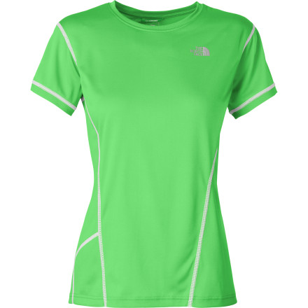 Fitness Lightweight and fast drying, The North Face Dirt Merchant Women's Jersey begs for singletrack adventures. Its wicking and mountain-bike tough fabric is constructed from recycled polyester that feels great against your skin, and your conscious too. The fabric also has a UPF 30 rating for protection from harmful sun rays on those hot summer rides. The Dirt Merchant is cut for a semi-form fit, so it's not restrictive, and a drop-tail hem ensures coverage in the riding position. At the back are two elastic pockets that easily store ride essentials, and one has a media port for clean routing of headphone cords. For low-light safety, The North Face Dirt Merchant Women's Jersey is equipped with reflective elements. It comes in three colors; Green, Black or White, and sizes range from X-Small through X-Large. - $49.95