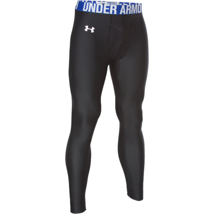 Fitness The Under Armour Men's EVO Coldgear Compression Ventilated Legging offers extra warmth to help you get the most out of your lower muscle groups with extra ventilation right where you need it. The functioning fly is mesh to limit excess heat build-up in your groin area, while the brushback knit offers soft warmth throughout your waist, rear, and legs. - $29.98
