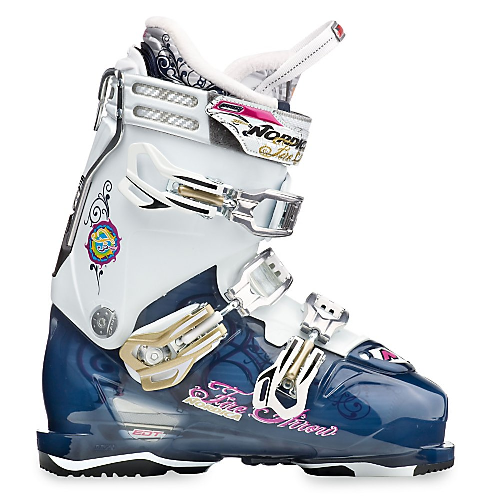 Ski The evolution of ski boots continues and the current leader is Nordica.  With its FireArrow F3 Ski Boots you'll have an edge above so many other boots out there on the market that you will be able to dominate the mountain.  Offering a 45 degree closure, you'll have the maximum amount of heel retention and forefoot comfort so your fit can be secure inside these boots.  Easy entry and exit are also made possible by this 45 degree feature.  Micro Buckles on all buckles ensures the most customized and comfortable fit.  A Tongue Rebound feature provides additional comfort and support.  The Progressive Flex dominates the FireArrows with its ease while in a neutral position but increasing in stiffness when you flex deeper into turns those sharp turns.  EDT Technology offers a carbon reinforced bootboard attached directly to the shell which ensures more power to skis without expelling more energy.  This also equals sharper turns and increased torsional stiffness. For the high performance skier that wants precise energy transmission and rapid rebound, there is the Nordica FireArrow F3 Ski Boots.  Dynamic Performance Code,  Adjusted Progressive Flex,  Tongue Rebound,  PFP Comfort Fit Shell,  Quick Set Rear Spoiler,  Cuff Alignment: Dual, Ski Boot Width: Medium (100-103mm), Number of Micro Buckles: 3, Forefoot Width: 100mm at Reference Size 25.5, Buckle Count: 3, Buckle Material: Aluminum, Category: Downhill, Ski Gear Intended Use: All Mountain, Skill Range: Advanced - Pro, Model Year: 2012, Product ID: 316874, Model Number: 05014500 1S4 225, GTIN: 0885315004895, Calf Volume: Medium, Instep Height: High, Flex Adjustment: Yes, Prewired For Heat: No, Ski/Walk: No, Used: No, Flex: Very Stiff, Special Features: EDT Boot Technology, Special Features: 45 Degree Retention, Warranty: One Year, Actual Flex: 100 - $109.88