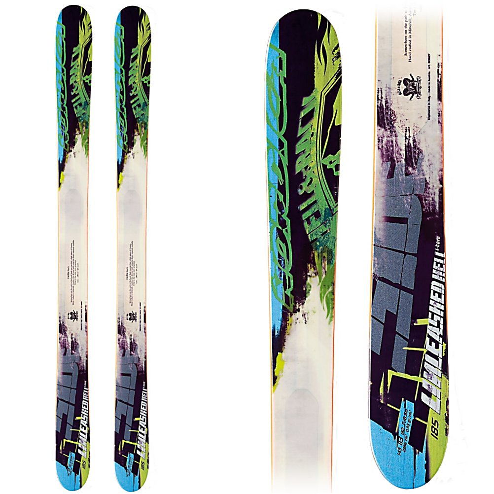 Ski Nordica Unleashed Hell Skis - When you're ready to destroy the entire mountain, then unleash hell on the Nordica Unleashed Hell Skis. These skis are great for the powder. At 113 underfoot combined with a High Rise camRock you'll be able to float on the snow as you charge down the mountain. There's an iCore Wood Core Technology to help make these skis more playful and maneuverable skis. This technology helps to make the skis 20% lighter too. These skis are versatile so you can take them just about anywhere on the mountain so if you want to hit the groomers first thing in the morning and then head out to the backcountry after lunch, these are the skis to help get you there. If you're looking for stability and lots of flotation then you'll want to destroy the mountain on a pair of Nordica Unleashed Hell Skis. . Tip/Waist/Tail Widths: 143/113/132mm (@ 185cm), Actual Turn Radius @ Specified Length: 18.5m (@ 185cm), Warranty: One Year, Type: Powder Skis (111+), What Binding is Included?: None, Construction Type: Sidewall, Core Material: Wood, Base Material: Sintered, Tail Profile: Twin, Special Features: High Rise Camrock, Special Features: iCore, Bindings Included: No, Binding DIN: N/A, Rocker: Rocker/Camber/Rocker, Binding Weight Range: N/A, Used: No, Titanium: No, Turn Radius: 16-20, Waist Width: 113mm, Ski Gear Intended Use: All Mountain, Skill Range: Advanced - Pro, Model Year: 2013, Product ID: 316715, Model Number: 0A214000 001 185, GTIN: 0885315182500 - $299.91