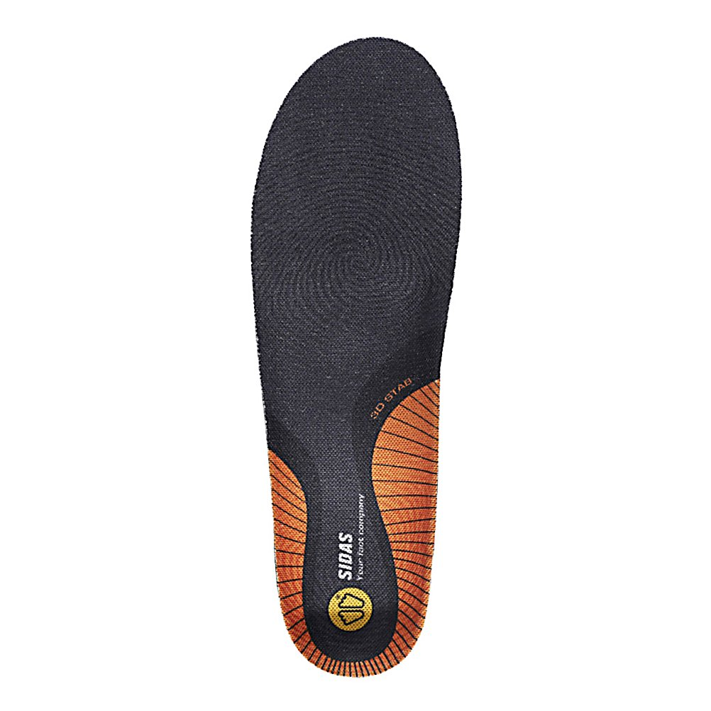 Ski Sidas Stability 3D Insoles - Add a little more support for those tired feet of yours with the Sidas Stability 3D Insole Footbed. Its EVA Shell ensures you have plenty of stability and will actually help align your body so that you can maintain your body and walk the way people were intended to. Now if you're doing a lot of walking around or your feet are seating up there's the chance of some foot odor. Don't worry, these Sidas Stability 3D Insole Footbeds are equipped with an anti-bacterial bamboo top cover which is designed to reduce foot odor. The 3D Insoles also help to absorb shocks and reduce fatigue so you'll always be performing at your very best. . Model Year: 2014, Product ID: 313437, Model Number: 32689261, GTIN: 3661267024504 - $49.99