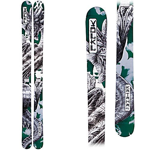 Ski Volkl Katana Skis - The Volkl Katana Skis are a nice fatty ski for the skier that loves to float on powder. At 112mm in the waist these beasts are made for the big landings and the pow. Designed with a Multi Layer Woodcore you'll have a very stable and lively ski which will help any strong skier power through anything in his way. Its Power Construction offers both vertical sidewalls and a torsion box internal layup. Usually reserved for the racing ski, this Power Construction will ensure that you have an excellent grip along with stability and smoothness. The Katana has a secret power system within as these destroyers are powered by Titanium. You'll have a layer of titanium above and below the woodcore serving up power and stability as well as dampening properties so you can take these to high speeds in comfort. Built with a Full Rocker, you'll have maneuverability in soft snow and smoothness and predictability on the groomers. One of the most versatile wide skis out there, the Volkl Katana Skis will have you performing at your very best when you head out for the big mountain adventure. . Tip/Waist/Tail Widths: 143/112/132mm (@ 177cm), Actual Turn Radius @ Specified Length: 24.2m (@ 177cm), Warranty: One Year, Type: Powder Skis (111+), What Binding is Included?: None, Construction Type: Sidewall, Core Material: Wood, Base Material: Sintered, Tail Profile: Twin, Special Features: Power Construction, Special Features: Multi Layer Woodcore, Bindings Included: No, Binding DIN: N/A, Rocker: Full Rock - $499.95