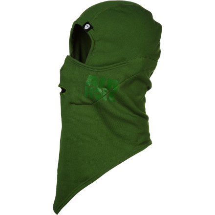 Airhole's Blank Mask keeps your head warm and your profile low. Warm, quick-drying fleece fabric protects your face, and the front opening allows inhaling essential gases from nearby trees. - $17.48