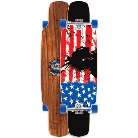 Skateboard The Arbor Agent Koa Longboard handles business bombing hills, shredding ditches, or winding through grimy city alleys. A wide platform with deep concave and dual kicktails keeps you in control through just about any terrain. - $179.95