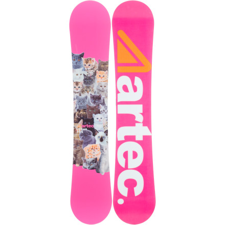 Snowboard You'll have a smile on your face no matter what you're riding when you have the Artec Venus Women's Snowboard under your feet. That's because this lightweight, soft-flexing board provides a forgiving ride that's a joy to jib and a blast for buttering. And with HyperTec traditional camber, it's still stable and poppy so you can boost off jumps and won't wash out on landings. - $164.98