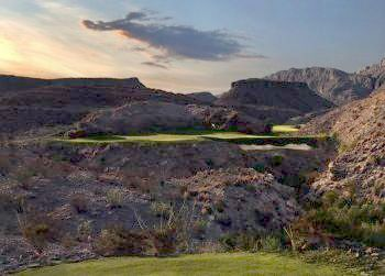 Golf Lajitas Golf Resort & Spa in Texas has a great course called Black Jack's Crossing.  The surrounding scenery is great too!  You can book your winter trip at 877.738.8914