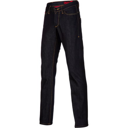 MTB Slide your Coalatree Organics Huck Finn Slim Denim Pant on when you want to show off your svelte new frame in all its glory. You haven't been running every day and hitting the bike to hide those man stems behind baggy jeans. - $69.97