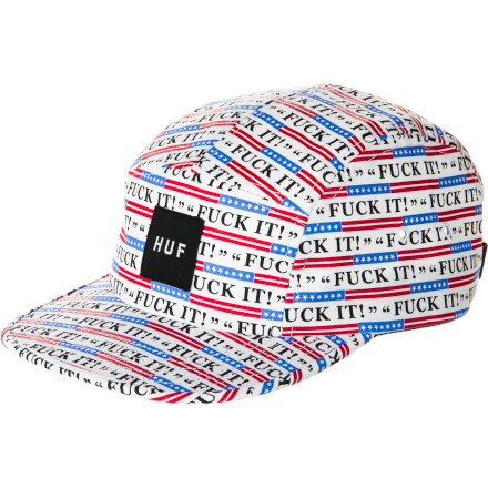 Well there's not much to say about the five-panel Huf Fuck It Volley Hat. You're either going to buy it or you're not. - $26.96