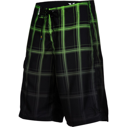 Surf Go from the beach to the waves to the boat when you wear the Hurley Men's Puerto Rico Blend Board Short. These comfortable boardies feature stretchy recycled fabric and a regular fit so you can work on your surf or chillin' skills. - $44.95