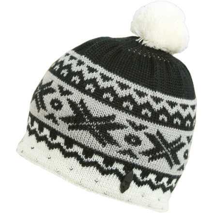 Look closely at the whimsical, apres-inspired pattern knit into the Ignite Cream Beanie, and you may catch a fleeting glimpse of majestic white Peruvian peaks, untracked lines in fresh Wasatch powder, or snowy hot springs high in the Swiss Alps. Or still, you might instead just see your child's toasty noggin as they waddle off to the school bus after the winter's first snowfall. - $5.49