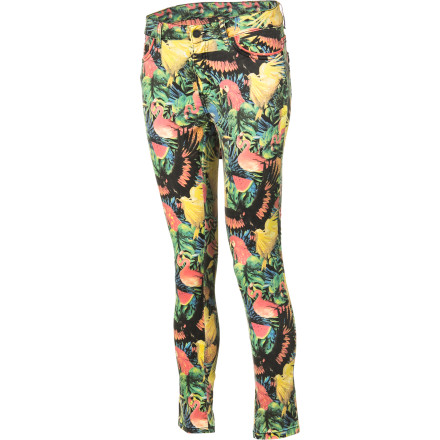 Surf Treat yourself to some tropical style with the cropped, skinny-leg Insight Tropico Rundown Denim Pant. - $87.95