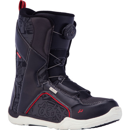 Snowboard The Ride Spark Boa Snowboard Boot sports an easy-to-use Boa lacing system and a comfy, soft flex that's friendly enough for first-timers but supportive enough for serious progression. - $65.97