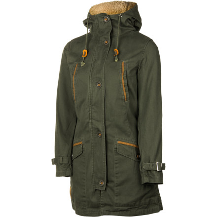Brave the elements in style with the vintage-mountaineering-inspired Sitka Kain Women's Parka. This three-in-one piece features a parka-length cotton outer jacket with a Sherpa fleece-lined vest underneath. Wear the just the jacket on cool autumn days, rock the vest by itself on breezy spring nights, and combine the two for extra warmth when temps drop during winter. - $169.95