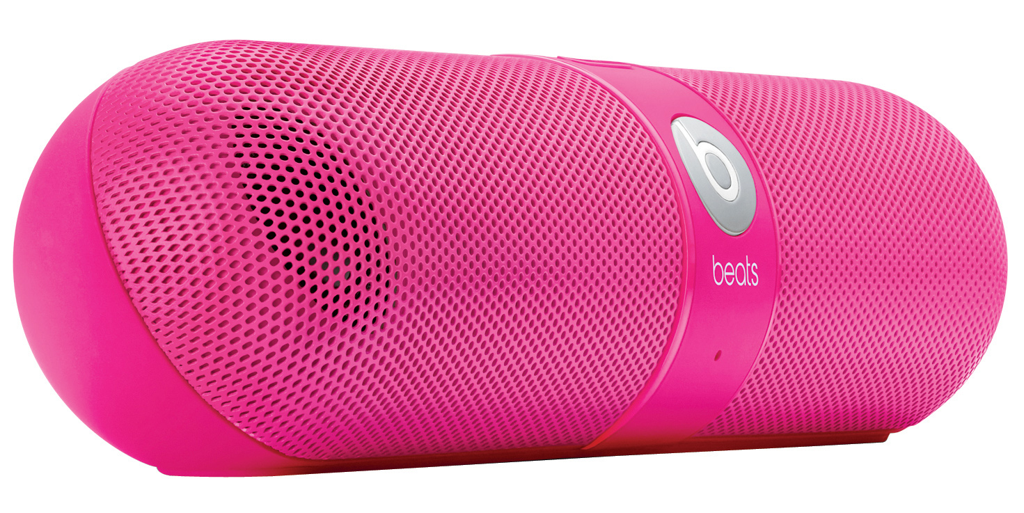 Entertainment Built to act not only as a powerful, compact speaker for listening to music but also as a portable system for taking calls, the Pill does it all with the freedom of wireless.Key Features of the Beats Pill Speakers: SMALL SIZE, BIG SOUND: Despite its compact size, the Pill produces powerful sound. It's easy to enjoy soaring highs and deep, booming bass in every room of the house. The Pill is wireless and cord-free. CHANGE TRACKS FROM YOUR PHONE: Or your laptop, or any other Bluetooth-enabled device from up to 30 feet away. The Pill frees you to roam which means you'll always have high quality sound near or far. TOTALLY PORTABLE: You're good to set up anywhere. The Pill is lightweight so it won't slow you down and small enough to fit in whatever you're carrying out the door. The carry case even comes with a handy carabiner so you can attach it to your backpack. BLUETOOTH CONFERENCING: Take that call. The Pill's Bluetooth capability and internal microphone make talking on the phone easier and better sounding than ever before. Pill Portable Stereo Speaker with Bluetooth 1.5 m audio cable (3.5mm to 3.5 mm) USB 2.0 charge/data cable Carry case with carabiner AC Power Adapter Weight (kg): 0.31 Height (mm): 45.72 Length (mm): 190.50 - $179.95