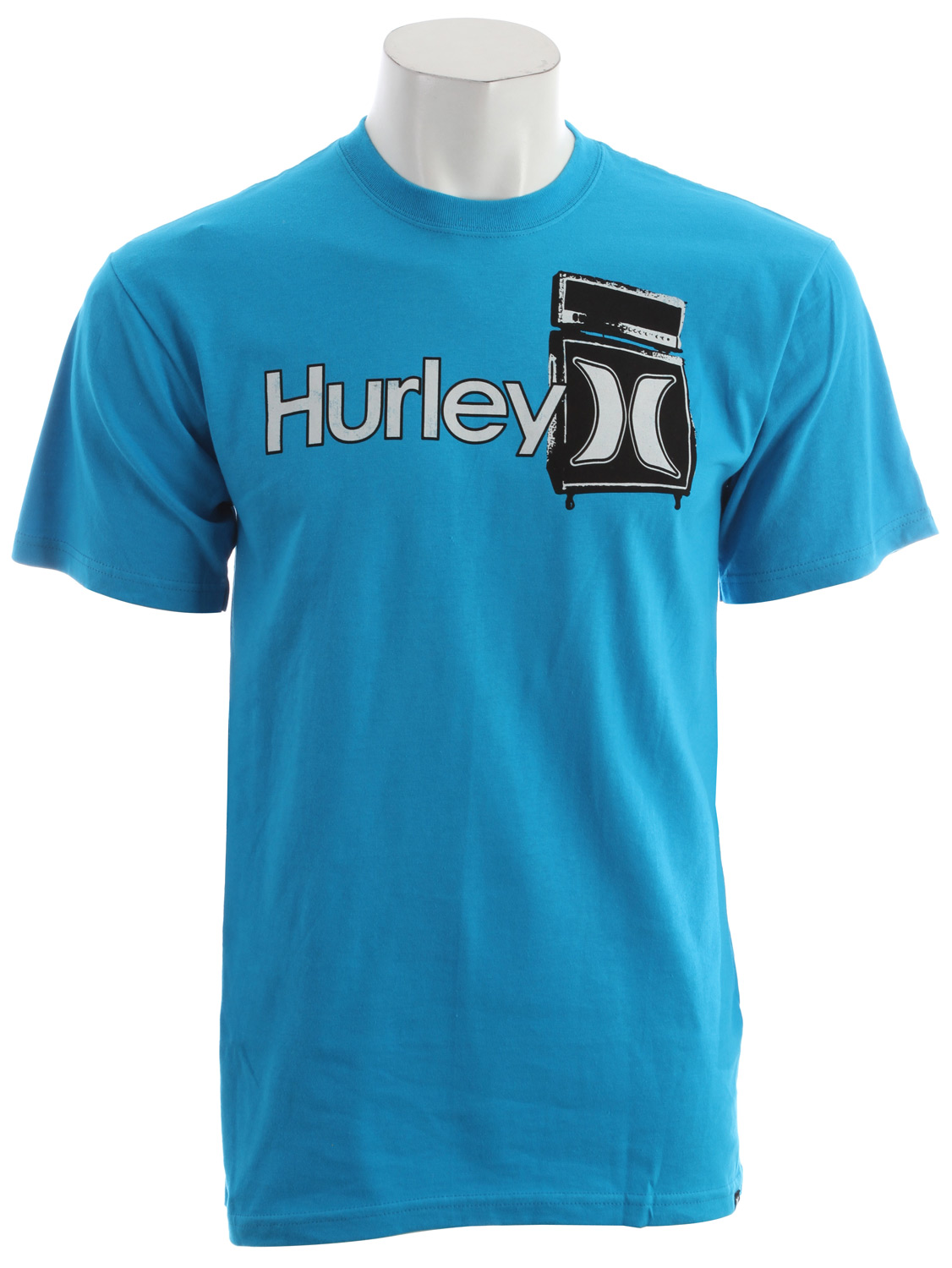 Surf Key Features of the Hurley One & Only Plus T-Shirt: Classic fit 5.5 oz 100% ringspun cotton Woven icon loop label Screen-printed inside neck and soft-hand print - $13.95
