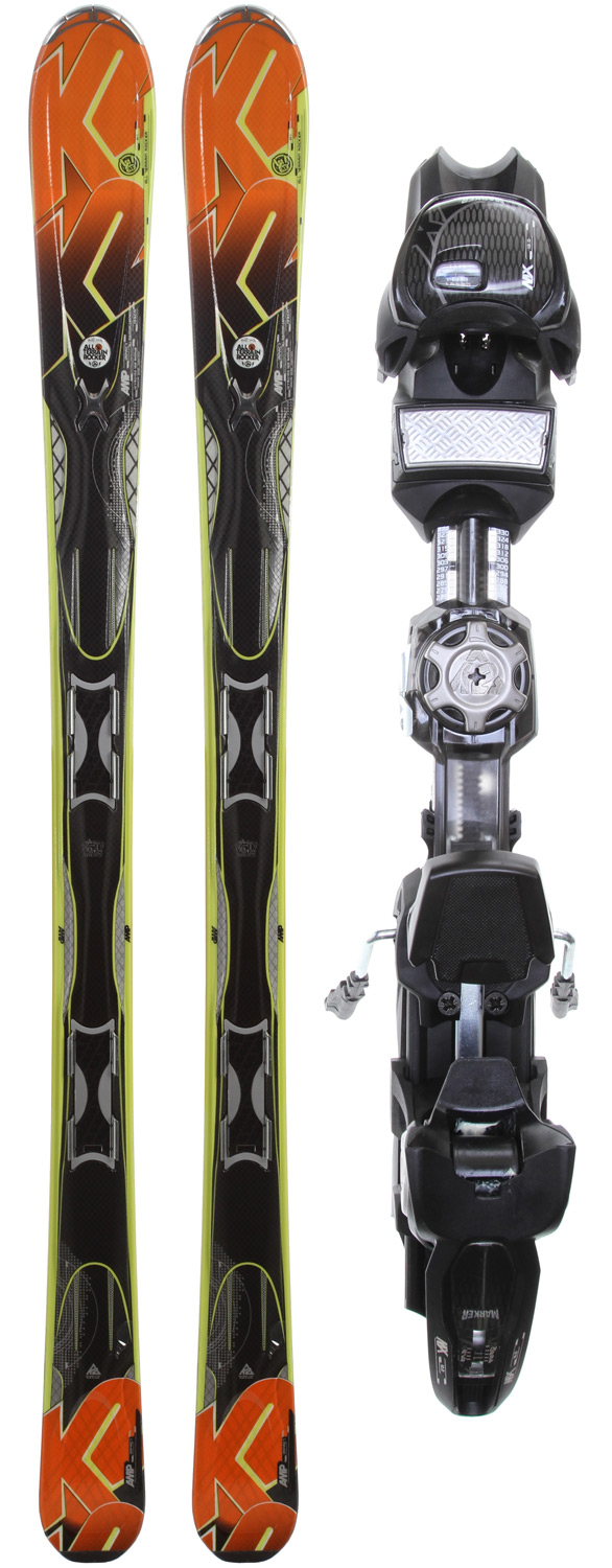 Ski A more forgiving version of the Rictor, this well- balanced ski comes equipped with All-Terrain Rocker and an attractive price tag. The Impact is the proficient skier's carving weapon of choice that is not afraid to lead them onto off-piste adventures.Key Features of the K2 AMP Impact Skis w/ Marker MX 12.0 Demo Bindings: Dimensions: 127/80/109 All-Terrain Rocker Groomed: 60%/Ungroomed: 40% Radius: 16m@ 174cm Triaxial Braid Hybritech Sidewall Fir/Aspen Core Carbon Web Progressive sidecut Mod technology Mod monic - $319.95