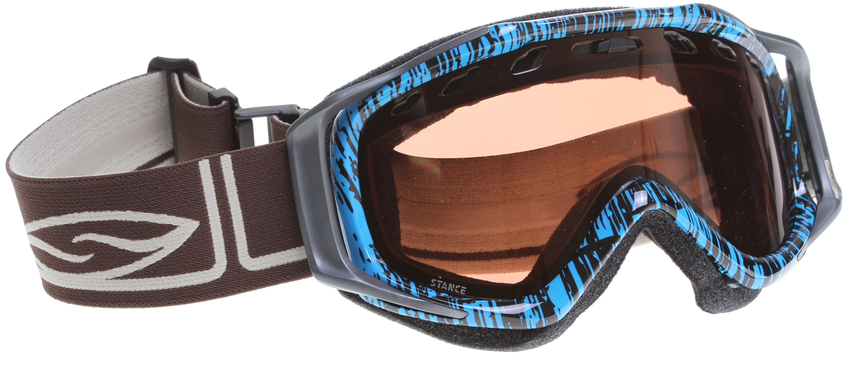 Snowboard The Stance is the direct result of our dedication to integrate performance and style. The Ergonomic Outrigger Positioning System and metal badge detailing bring refined style to the Regulator Series. Just under the surface, all Fuse devotees will be stoked to know that the Stance maintains the incredible fit and peripheral that made the Fuse so popular.Key Features of the Smith Stance Snowboard Goggles: Medium Fit and Helmet compatible Spherical and Cylindrical Carbonic-X lenses with TLT optics, Porex Filter and Fog-X anti-fog inner lens Articulating and Ergonomic outrigger positioning systems with Ultra-Wide, Silicone Backed Strap Includes Microfiber Goggle Bag Manufacturer's Lifetime Warranty 35% Visual Light Transmission (VLT) Conditions: Low/Medium/Bright Light Proprietary universal lens tint designed to reduce eye fatigue while enhancing contrast and depth perception in all conditions. A versatile lens tint designed to be used all season long. - $42.36