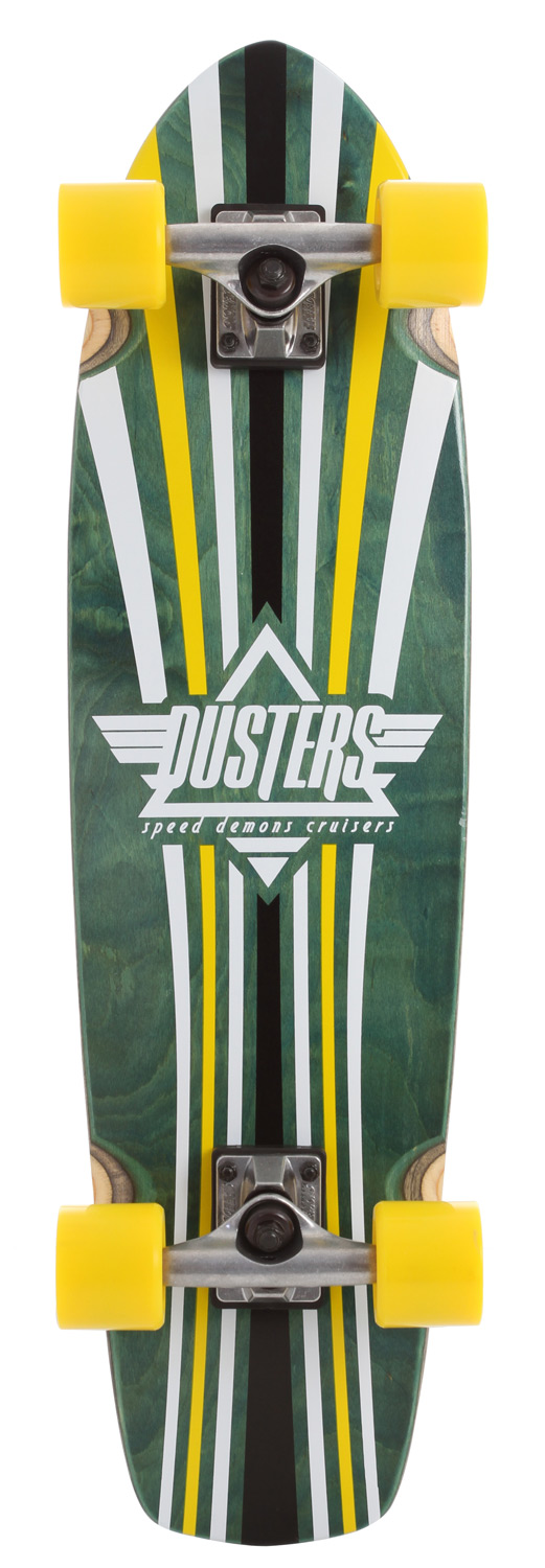 "Skateboard Dust all your friends with the Keen Duster Complete! WAPOW!Key Features of the Speed Demons Keen Dusters Longboard Complete: Keen Duster complete. Deck: 8.25"" x 31"". Speed Demon trucks. Speed Demon 62mm 83A wheels. Speed Demon Abec 5 bearings. Speed Demons hardware. Clear grip - $89.95"