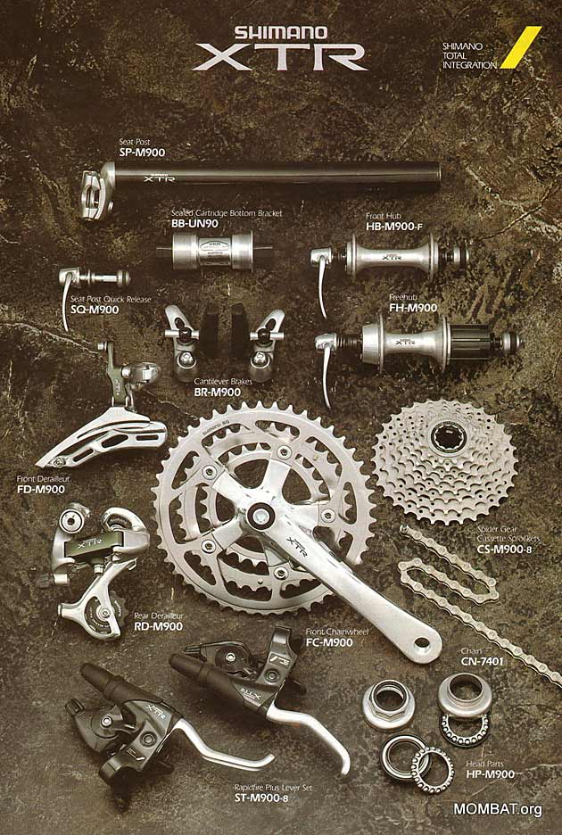 MTB XTR came in and crushed most of the boutique-brand brakes and drivetrain. Shimano meant business.
