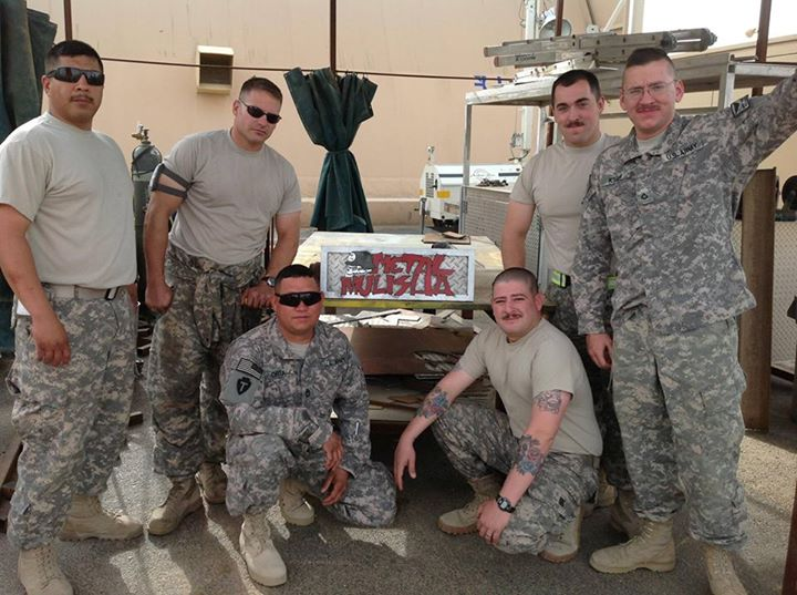 Guns and Military M/M Troops Jason De Leon  Junior Page, James Futrell, Mario Orta and Kenneth Kiser from B co 449th ASB sent over this photo all the way from Udairi Army Airfield, Kuwait! Much respect to you all and everyone else who serves!