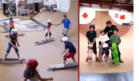 Skateboard Timeship Skateboard School is located in Santa Fe, NM and is for skateboarders of all ages and abilities.  If you want a head start check them out at skateboardsafety.com
