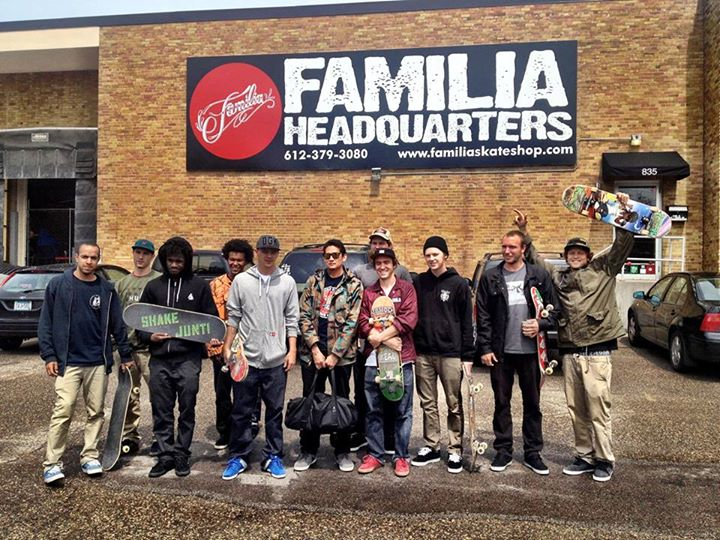 Skateboard Last weekend DC's Davis Torgerson, Wes Kremer, Josh Kalis, and Cyril Jackson took a trip to Davis' hometown of Minneapolis, Minnesota for Familia skateshop's 8th annual Day Of Familia and the release of the DC x Familia Tonik S shoe. Check out what went d
