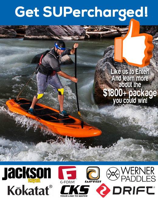 Kayak and Canoe There are 2 days left to sign up if you want to win a brand spankin' new Jackson Kayak SUPerCHARGER. It's a killer package worth over $1800 that includes a WRSI Helmets Trident, Werner Paddles Stinger, G-Form protection and a Kokatat Watersports Wear PFD!