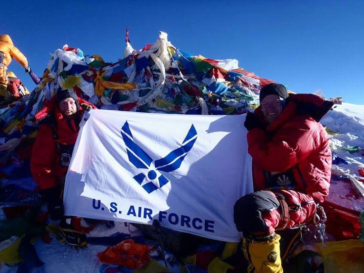 Guns and Military Congratulations to the USAF 7 Summits Challenge team for successfully reaching the Mount Everest summit May 19. The historic climb marks the first time a team of military members from any nation has reached the highest point on all seven continents includ
