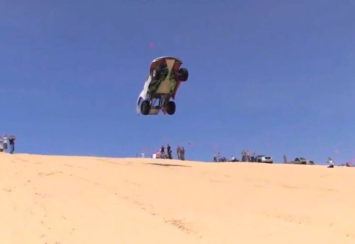 Motorsports Biggest Jump at Silver Lake Sand Dunes!  Top video on www.thrillon.com/motorsports...
