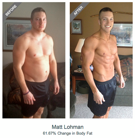 Fitness Congrats to Matt Lohman, voted by members as the top male 90-Day Transformation Challenge winner!
