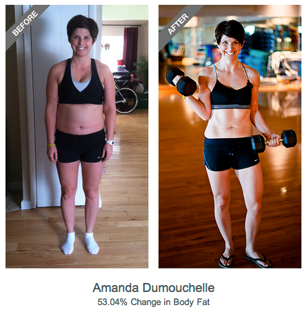 Fitness Congrats to Amanda Dumouchelle, voted by members as the top female 90-Day Transformation Challenge Winner!