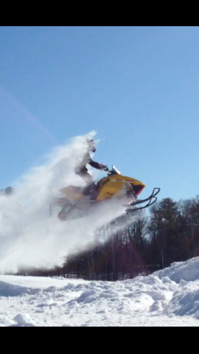 Snowmobile winter airtime