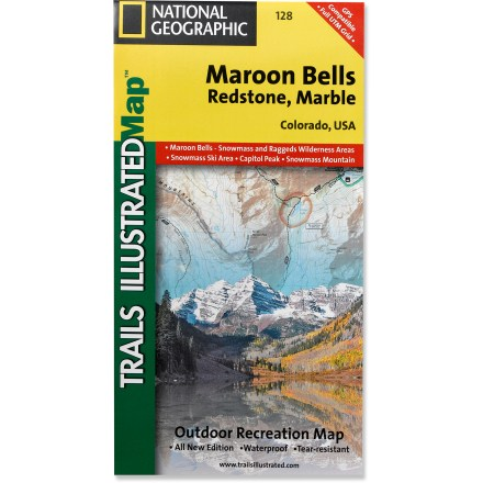 Ski This informative Trails Illustrated map will help you plan trips and explore the area in and around Colorado's Maroon Bells, Redstone and Marble. - $11.95