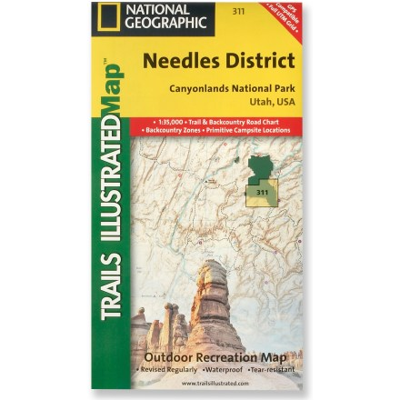 Camp and Hike This National Geographic Trails Illustrated folded map offers comprehensive coverage of the Needles district in Utah's Canyonlands National Park. - $9.95