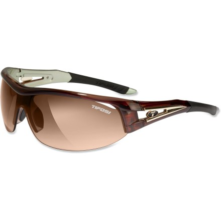 Camp and Hike The wrap-around Tifosi Altar interchangeable sunglasses give you 3 lens options so you can find just the right level of light for activities on sunny days or under overcast skies. - $35.73