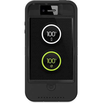 Entertainment The OtterBox Defender iPhone 4/4S case with iON Intelligence has a built-in, rechargeable battery that increases power capacity up to 2 times while it shields your phone from dings and dust. - $44.83