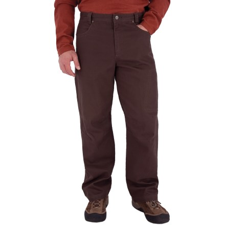 Camp and Hike With a sturdy construction, a soft feel and classic style, the Royal Robbins Billy Goat(R) Utility Corduroy pants with a 30 in. inseam will be staples of your cool-weather, casual wardrobe. Rugged cotton corduroy provides UPF 50+ protection from the sun's rays. 2 hand pockets, 2 rear pockets, a zippered thigh pocket and a zippered rear pocket provide storage for your essentials. Triple-needle stitching at high-stress points ensures long-lasting wear. Gusseted crotch and articulated knees allow good range of motion. The Royal Robbins Billy Goat Utility Corduroy pants have a regular fit. Closeout. - $28.73