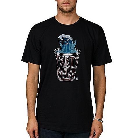 Surf Billabong Men's Party Wave 2 Tee DECENT FEATURES of Billabong Men's Party Wave 2 Tee Regular fit tee Softhand front screen print Made with 100% Organic Combed Ringspun 30 Singles Cotton. - $21.95