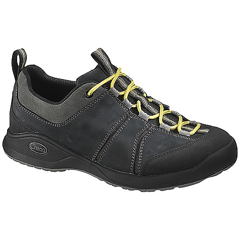 Camp and Hike Free Shipping. Chaco Men's Torlan Bulloo Shoe DECENT FEATURES of the Chaco Men's Torlan Bulloo Shoe Articulating panels allow breathability and air-flow in each step Square military laces keep tied and secure longer Second lace color available The SPECS Weight: 15.40 oz / 439 g The SPECS for Upper Suede and nubuck upper with polyester jacquard webbing Brushed rubber toe cap and heel Polyamide stretch and mesh linin g Cement construction Lace-up fit The SPECS for Midsole ChaPU polyether polyurethane midsole with a co-molded nylon shank Removeable mesh lined ChaPU footbed Luvseat XO3 platform The SPECS for Outsole Bulloo outsole with Vibram TC-1 rubber 2-3mm lugs for slip resistance Non-marking - $124.95