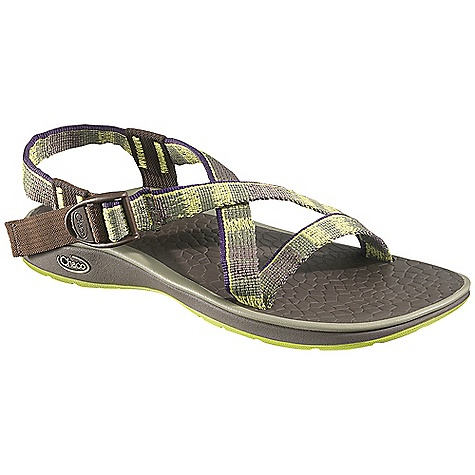 Surf Free Shipping. Chaco Women's Chari Sandal DECENT FEATURES of the Chaco Women's Chari Sandal Intuitive adjustment system helps you achieve a perfect custom fit Minimal design keeps you grounded for a close and personal outdoor experience The SPECS Weight: 7.10 oz / 225 g The SPECS for Upper Polyester jacquard webbing upper with webbing heel risers Cement construction Custom Adjust'em fit The SPECS for Midsole ChaPU polyether polyurethane footbed Luvseat XO2 platform The SPECS for Outsole NearGround siped outsole with EcoTread rubber 2mm lug depth All-purpose tread design Non-marking - $89.95