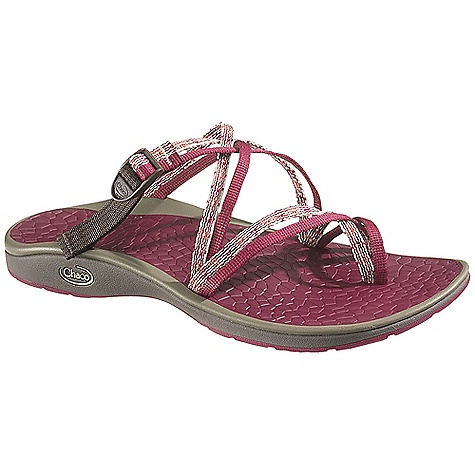 Surf Free Shipping. Chaco Women's Sleet Sandal DECENT FEATURES of the Chaco Women's Sleet Sandal Intuitive adjustments for easy and essential custom fit 25% recycled EcoTread rubber outsole is siped for wet surfaces The SPECS Weight: 7.50 oz / 212 g The SPECS for Upper Polyester jacquard webbing and stretch polyester webbing upper Cement construction Custom Adjust'em fit The SPECS for Midsole ChaPU polyether polyurethane footbed Luvseat XO2 platform The SPECS for Outsole NearGround siped outsole with EcoTread rubber 2mm lug depth Non-marking - $74.95
