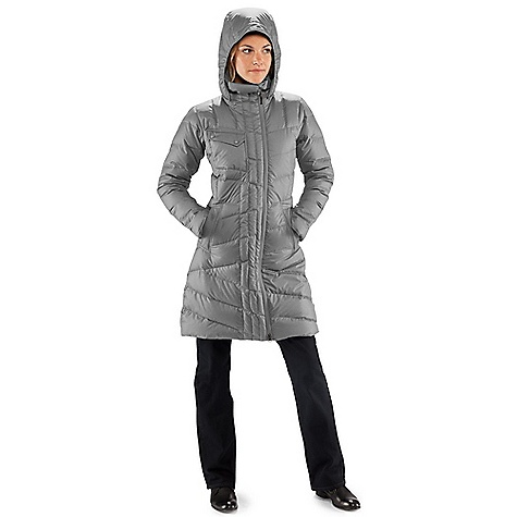 Free Shipping. Nau Women's 3-4 Length Cocoon Trench DECENT FEATURES of the Nau Women's 3/4 Length Cocoon Trench Insulation - 650 fill goose down Offset 2-way rev coil DWR front zip with wind flap Snap-off hood with encased elastic opening 2 front zip pockets and 1 right chest pocket Internal Pockets: 1 zip with audio Shaped sleeve hem The SPECS Weight: 13 oz Shell and Lining: Recycled poly heathered ripstop Insulation: 650 fill goose down - $299.95