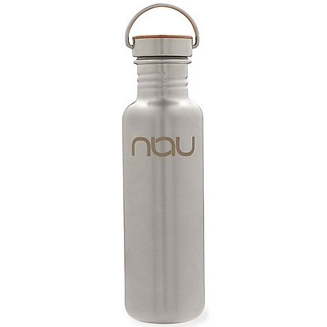 Nau Klean Kanteen DECENT FEATURES of the Nau Klean Kanteen 27 oz No paint, no plastic No rubber seals Laser etched logo The SPECS Stainless steel bottle Food-grade silicone seal and sustainably harvested bamboo cap - $37.95